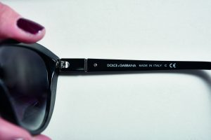 genuine or fake Dolce & Gabbana sunglasses - the arms